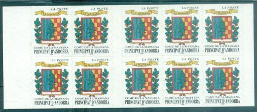 Andorra - French #504a  MNH  Scott $12.50   Booklet
