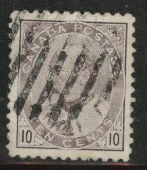 CANADA Scott 93 used 1903 10c KGV stamp CV$10