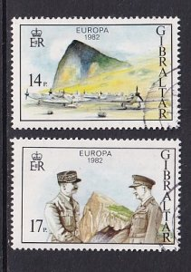 Gibraltar    #435-436    used    1982  Europa  operation torch