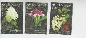 2019 Slovenia Hydrangeas Flowers (3) (Scott NA) MNH
