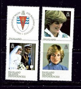 Falkland Is Dep 1L72-75 MNH 1982 Diana    #2