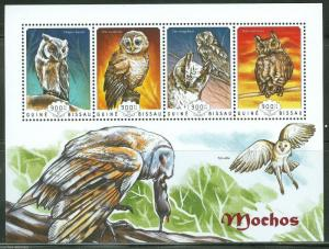 GUINEA BISSAU  2014 OWLS   SHEET MINT  NH
