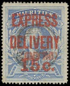 Mauritius Scott E2a Gibbons E2V Used Stamp