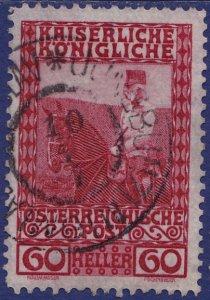 Austria - 1908 - Scott #122 - used - JUNGBUNZLAU pmk Czech Republic