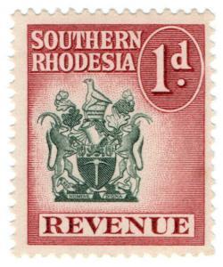 (I.B) Southern Rhodesia Revenue : Duty Stamp 1d