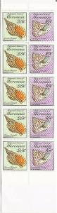 Micronesia - 1989 Seashells - Booklet of 10 Stamps 5 each #85, 88
