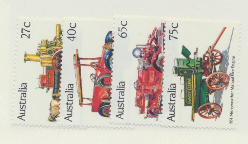 Australia Scott #857 To 860, Mint Never Hinged MNH, Historic Fire Engines Iss...