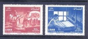 LEBANON - LIBAN MNH SC# C309-C310 LABOR DAY