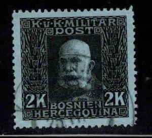 Bosnia & Herzegovina Scott 82 Used Franz Josef  stamp from 1912-1914 set