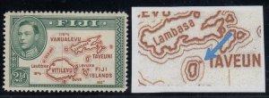 Fiji, SG 256a, MLH Extra Island variety