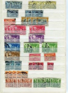 PHILIPPINES; 1940s-50s fine DUPLICATED USED LOT , + POSTMARKS