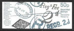 FB66 1993 Postal History Series - #3 50p booklet Complete