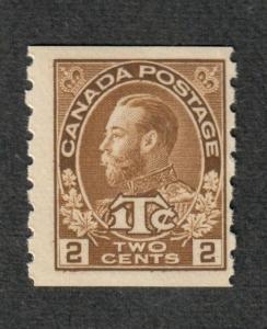 Canada Sc#MR7a M/NH/F, War Tax Scarce Type I, Cv. $500