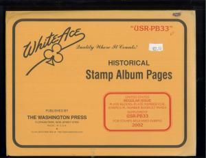 2002 White Ace United States Regular Issue Stamp Album Supplements USR-PB33