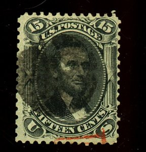 77 Used Fine Short Perf Part Red Cancel Cat$170