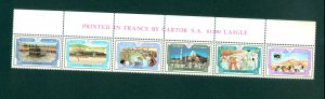 Oman - Sc# 302. 1987 Mecca Pilgrimage. Strip. MNH. $25.00.