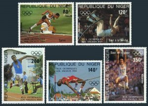Niger C332-C336,MNH.Michel 876-880. Pre-Olympics Year Los-Angeles-1984.Sprint,