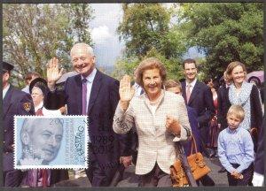 Liechtenstein 2014 Duke Hans Adam II Maxi Card FDC