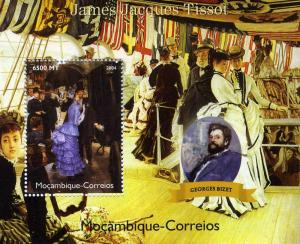 Mozambique 2004 GEORGES BIZET Paintings TISSOT s/s Perforated Mint (NH)