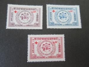 Cambodia 1959 Sc B8-B11 set MNH