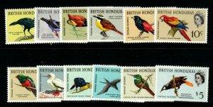 BRITISH HONDURAS SG202/13 1962 BIRDS MNH