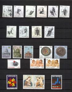 1976 - SAN MARINO - Complete year set - Scott #875 and others - MNH**