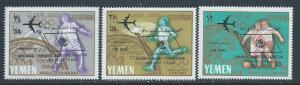 YEMEN SC# 237-9 MICHEL  FVF/MNH 1965