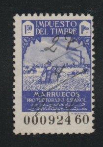 Spain fiscal revenue stamp 1-18a- Marruecos better