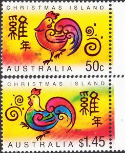 Christmas Island #449-450 MNH