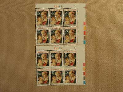 USPS Scott 2399 25c Christmas Botticelli 1988 Plate Block...