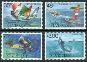 St. Vincent Grenadines Sc 484-7 Water Sports: Windsurfing, Water Skiing, Scuba