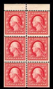 MOMEN: US STAMPS #375a POSITION J BOOKLET MINT OG NH