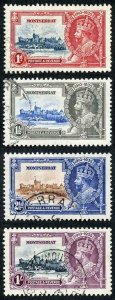 Montserrat SG94/97 1935 Silver Jubilee Set Fine Used