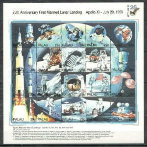 QQ1011 PALAU SPACE 25TH FIRST MANNED LUNAR LANDING APOLLO BIG SH MNH STAMPS