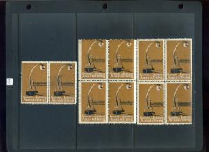 10 VINTAGE 1914 GEWERBE und INDUSTRIE POSTER STAMPS (L747-E) LUDWIGSBURG GERMANY
