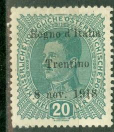 Austria N39a mint CV $325