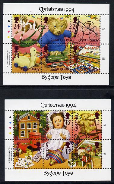 Guernsey 1994 Christmas - Bygone Toys set of 12 (two shee...