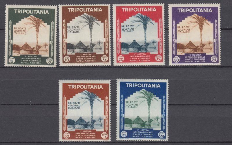 J27916 1934 italy tripolitania set mh, #73-8 native village