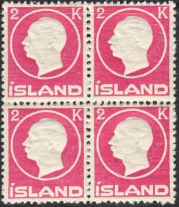 ICELAND 97 VF NH Blk/4 (22019)