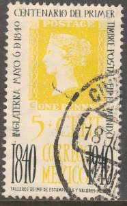 MEXICO 754 5¢ Penny Black Centennial. Used. VF. (674)