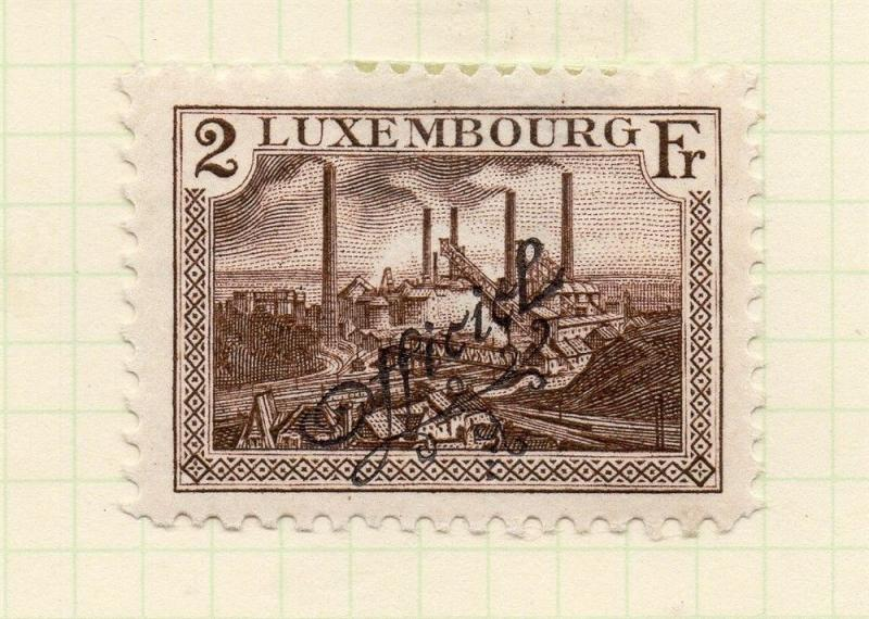 Luxembourg 1921 Early Issue Fine Mint Hinged 2f. Official Optd 253209