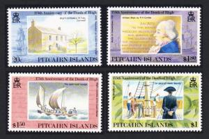 Pitcairn 175th Death Anniversary of William Bligh 4v SG#422-425 SC#375-378
