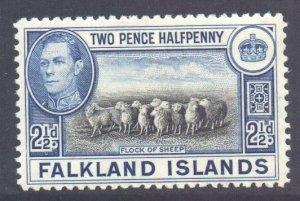 Falkland Is Scott 87 - SG151, 1938 George VI 2.1/2d Sheep MH*