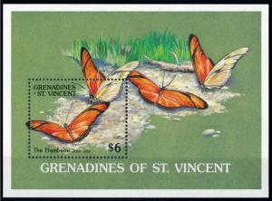 [71082] Grenadines of St. Vincent 1989 Insects Butterflies Souvenir Sheet MNH