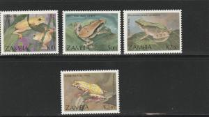 ZAMBIA #462-5 MINT NEVER HINGED COMPLETE FROGS
