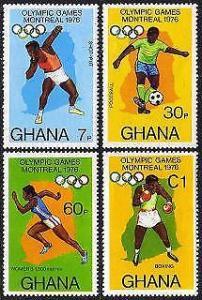 HERRICKSTAMP GHANA Sc.# 583-86 Olympics 1976
