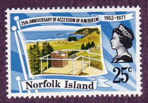 Norfolk Isl. # 218, QE Anniversary, Mint NH, 1/2 Cat.