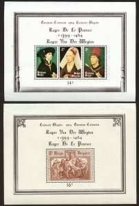 Belgium -Sc# B762 and B763, MLH.  Souvenir sheets.  2017 SCV $8.50