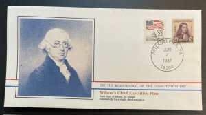 US #724,2115 Used on Cover - Bicentennial of Constitution 1787-1987 [BIC9]