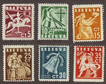 Lithuania #317-22 MH complete early set